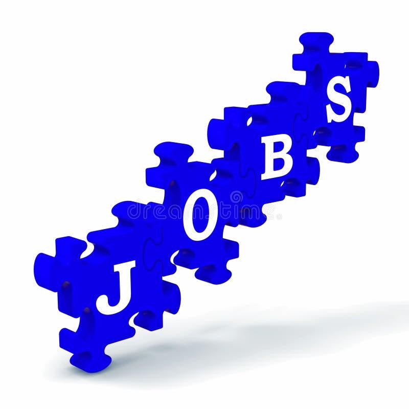 Job-Durchschnitt-Arbeits-Beruf-Beschäftigung und Berufung stock abbildung