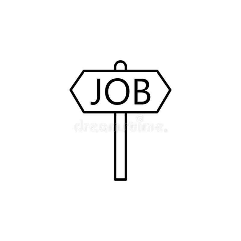 Job, employment icon on white background. Can be used for web, logo, mobile app, UI, UX. On white background vector illustration
