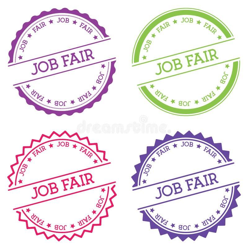 Job fair badge isolated on white background. royalty free illustration