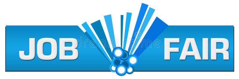 Job Fair Blue Graphic Center ilustração do vetor