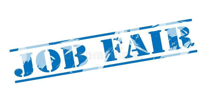 Job fair blue stamp stock illustration