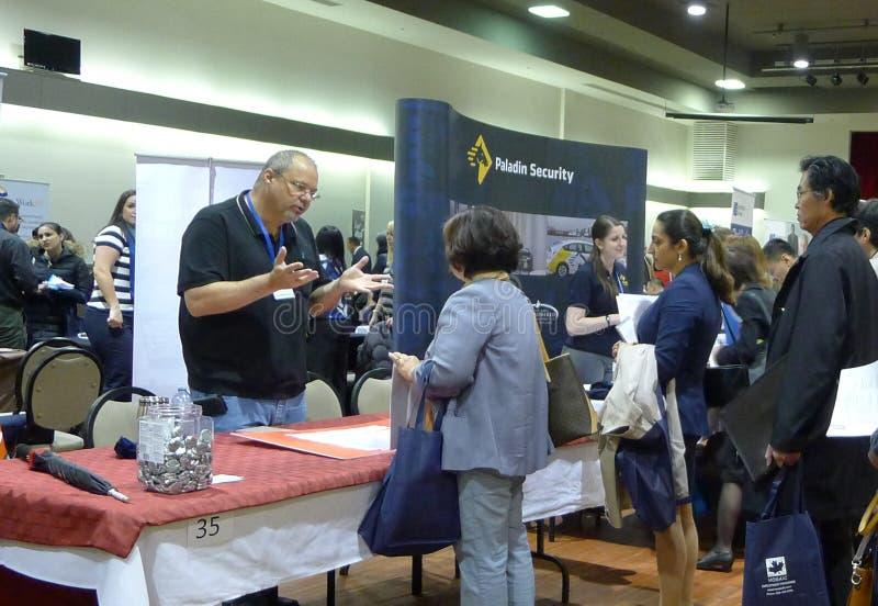 Job Fair en Vancouver imagen de archivo