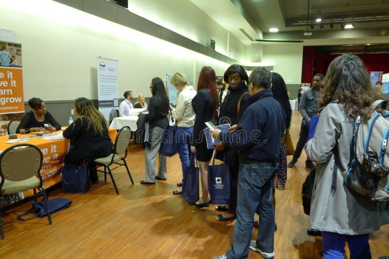 Job Fair en Vancouver foto de archivo