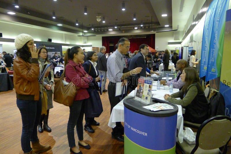 Job Fair en Vancouver imagenes de archivo