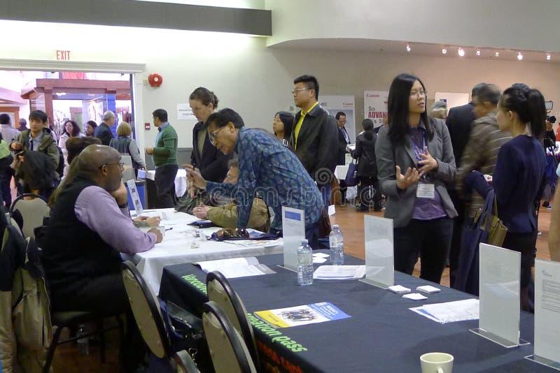 Job Fair en Vancouver fotos de archivo