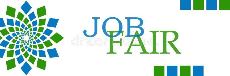 Job Fair Green Blue Circular horizontal ilustração do vetor