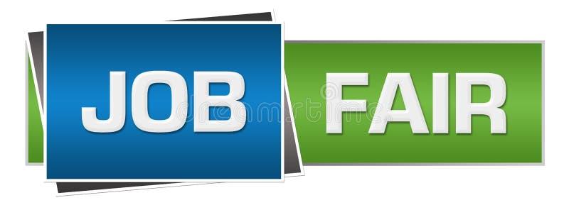 Job Fair Green Blue Horizontal ilustração royalty free