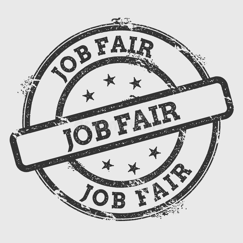 Job fair rubber stamp on white. stock illustration