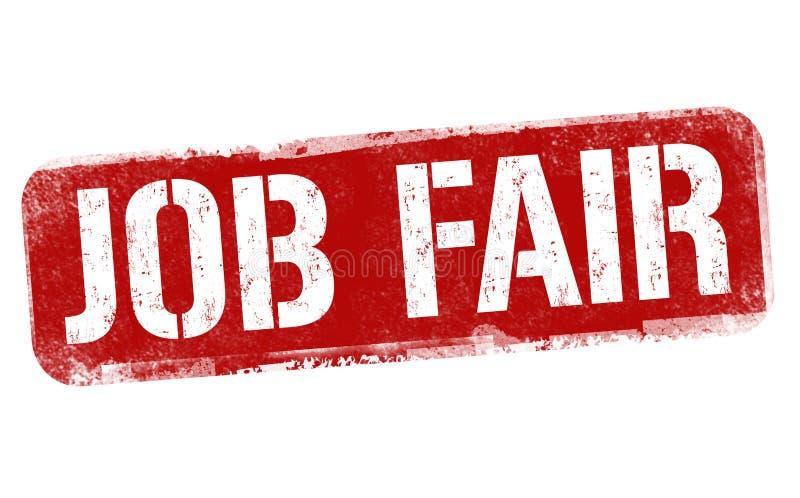 Job fair sign or stamp stock illustration