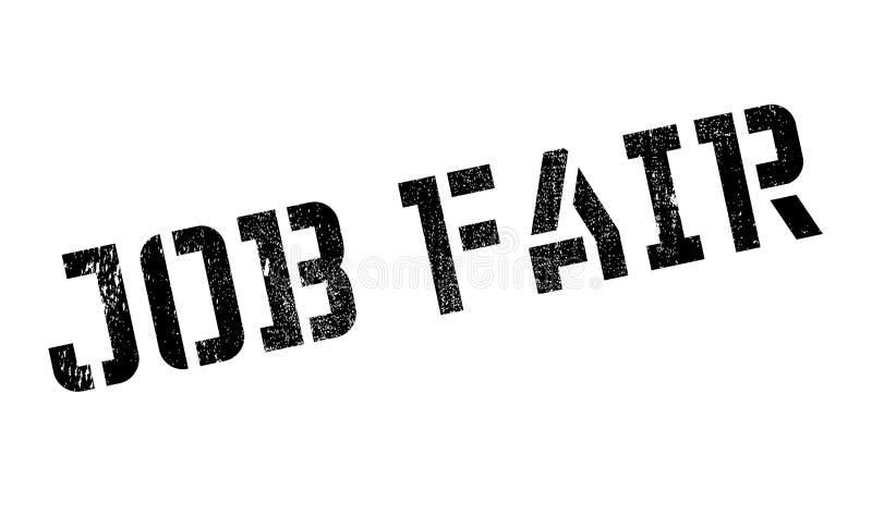 Job Fair-Stempel stock abbildung