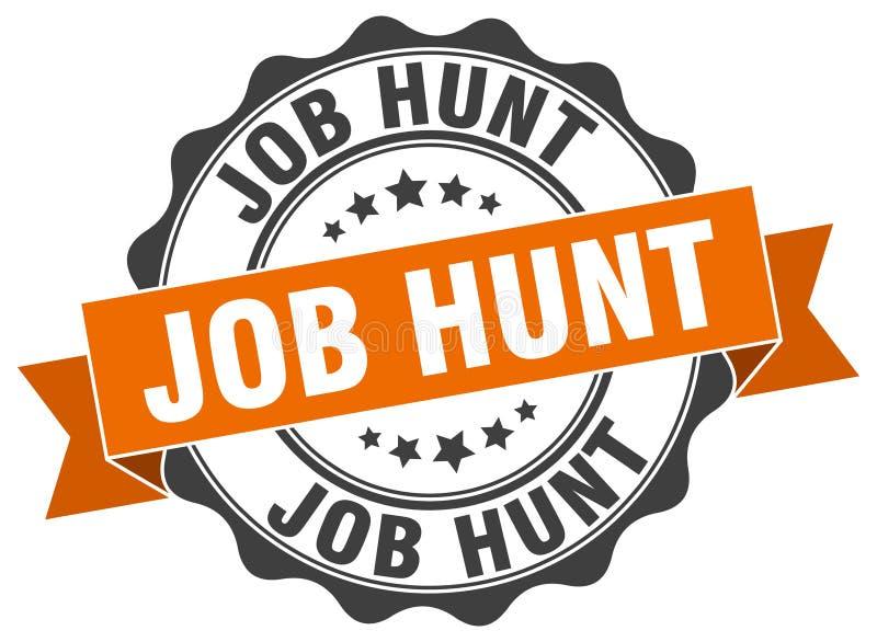 job hunt seal royalty free illustration