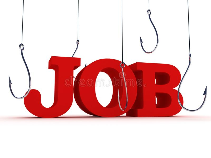 Download Job hunt search concept stock illustration. Image of hook - 21189421
