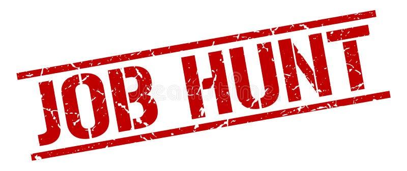 Job hunt stamp. Job hunt square grunge sign isolated on white. job hunt vector illustration