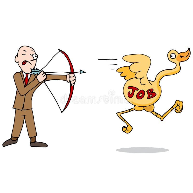 Job Hunting Metaphor Icon. An image of a metaphor representing a job hunter royalty free illustration