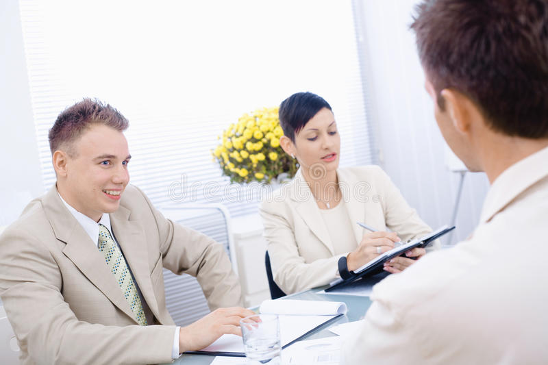 Download Job interview stock image. Image of looking, application - 10742043