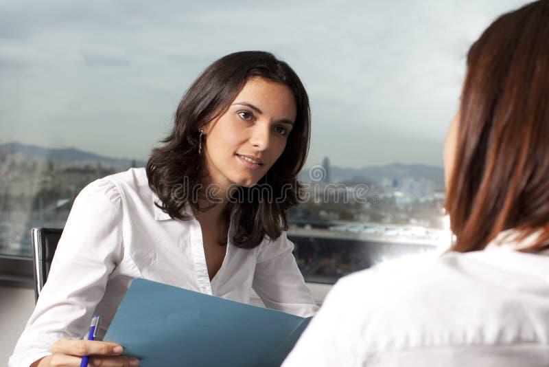 Job Interview. Two women during a job interview