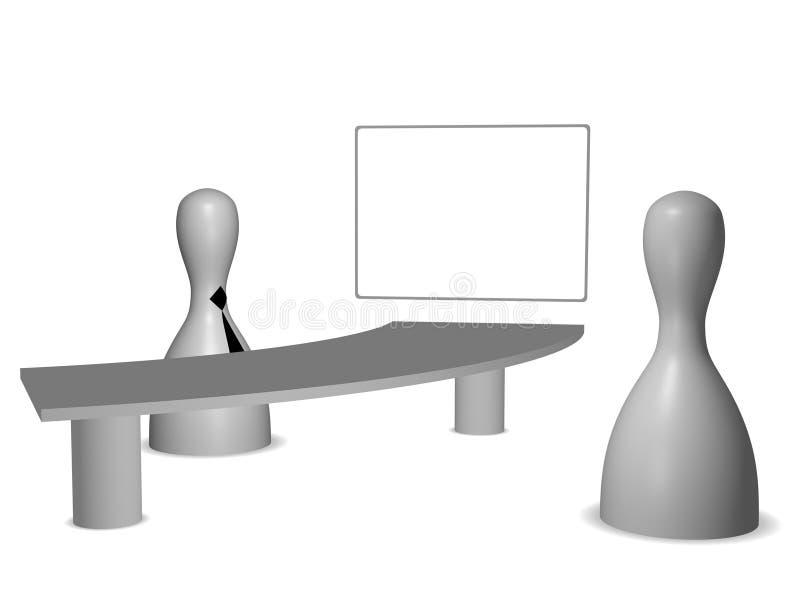 Download The job interview stock illustration. Illustration of master - 26464850
