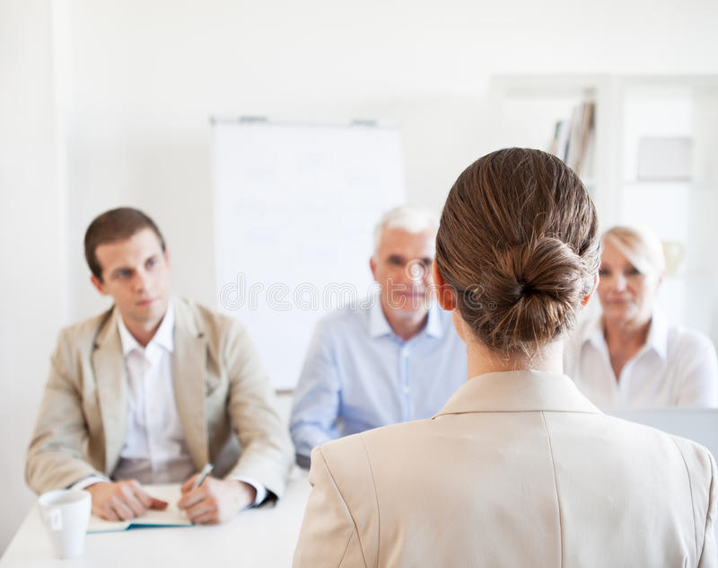 Job Interview royalty-vrije stock afbeelding