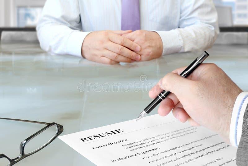 Job Interview royalty-vrije stock foto