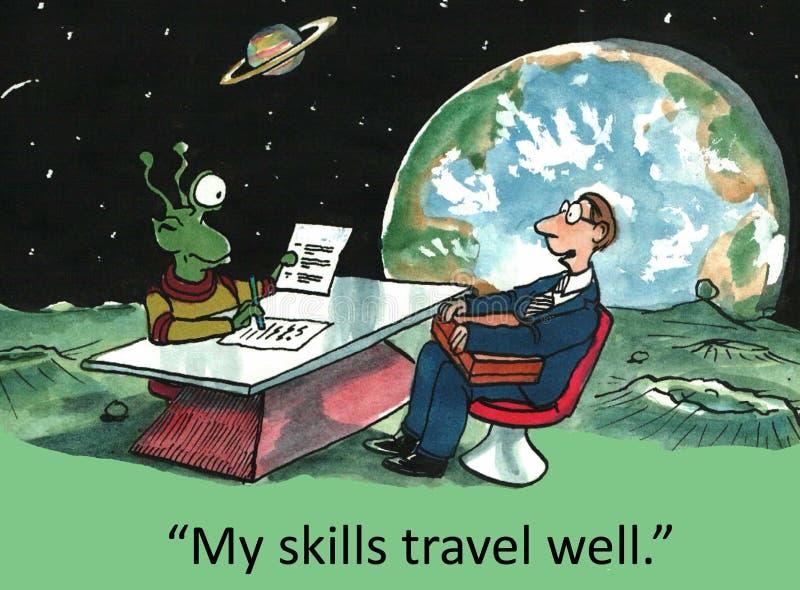 Job Interview royalty-vrije illustratie