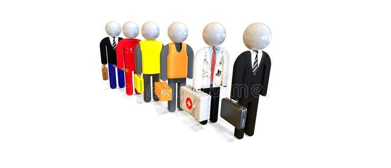 Job Interview arbetare, affärsfolk Experter och konsulenter royaltyfri illustrationer