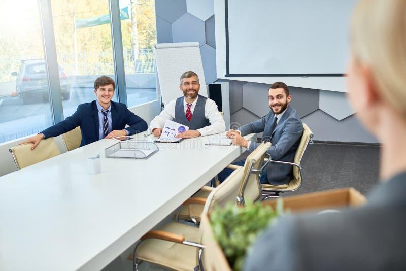 Job Interview in Bedrijf stock foto