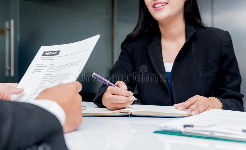 Job interview. Company recruit a new candidate. For business successful royalty free stock image