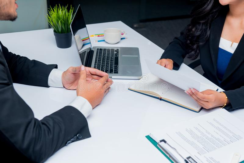 Job interview. Company recruit a new candidate. For business successful royalty free stock photos