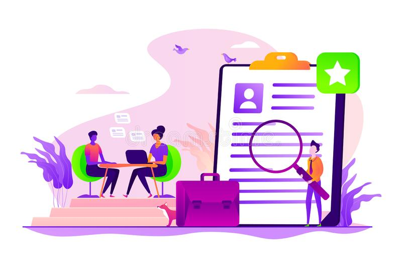 Job interview concept vector illustration royalty free illustration