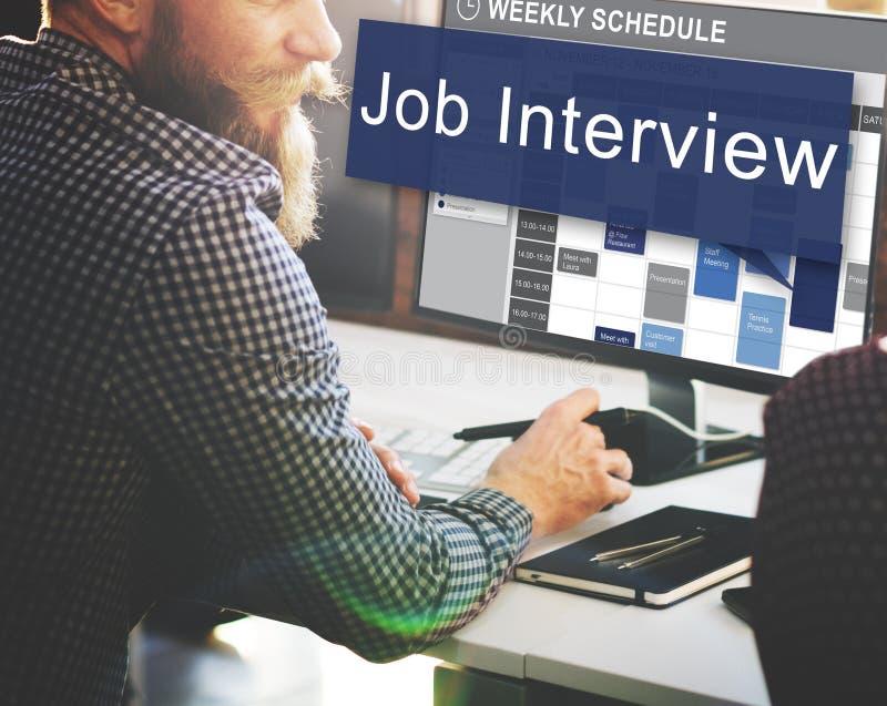 Job Interview Employment Human Resources Concept.  stock photo