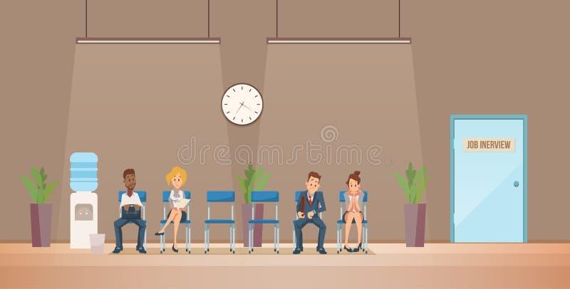 Job Interview et recrutement Illustration de vecteur illustration libre de droits