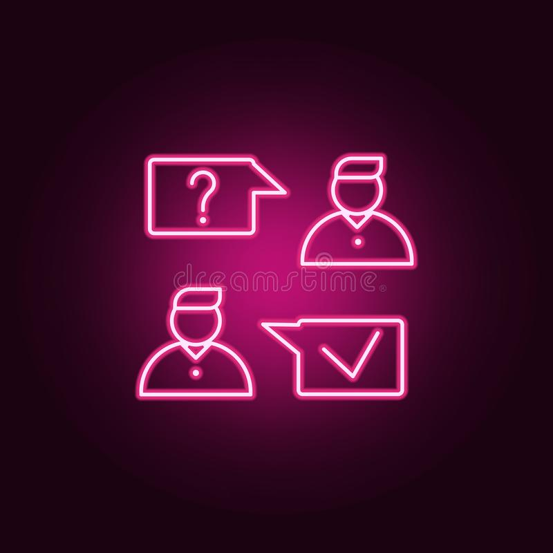 job interview icon. Elements of interview in neon style icons. Simple icon for websites, web design, mobile app, info graphics stock illustration