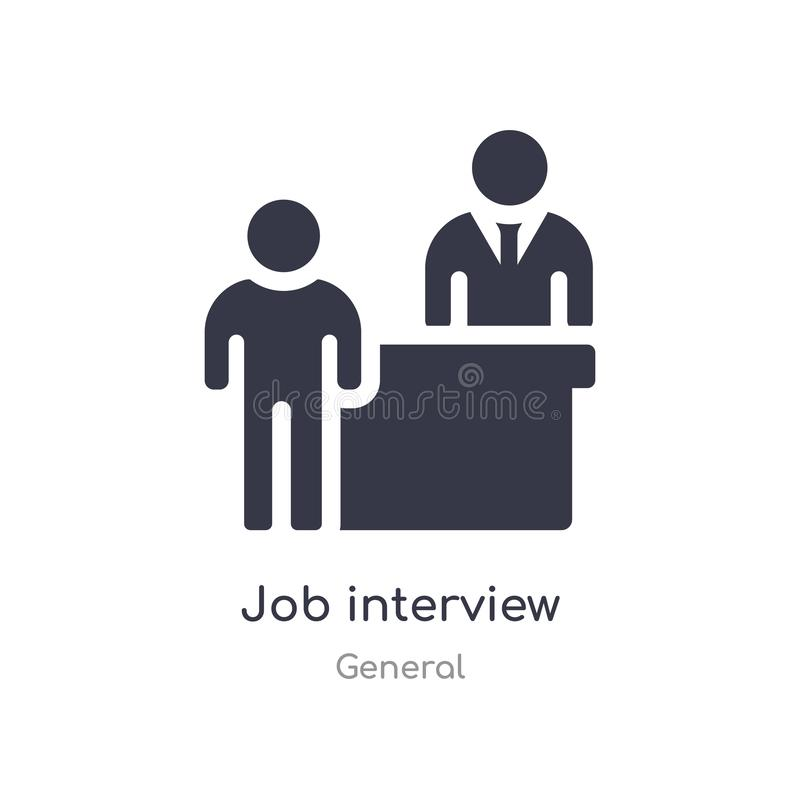 job interview icon. isolated job interview icon vector illustration from general collection. editable sing symbol can be use for royalty free illustration