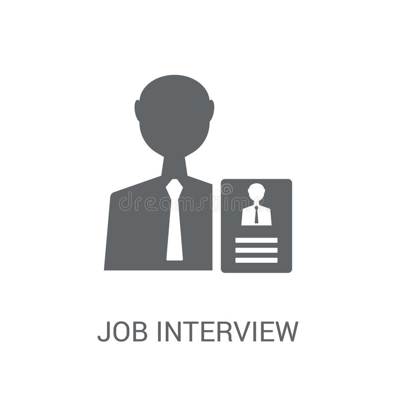 Job interview icon. Trendy job interview logo concept on white b. Ackground from General collection. Suitable for use on web apps, mobile apps and print media stock illustration