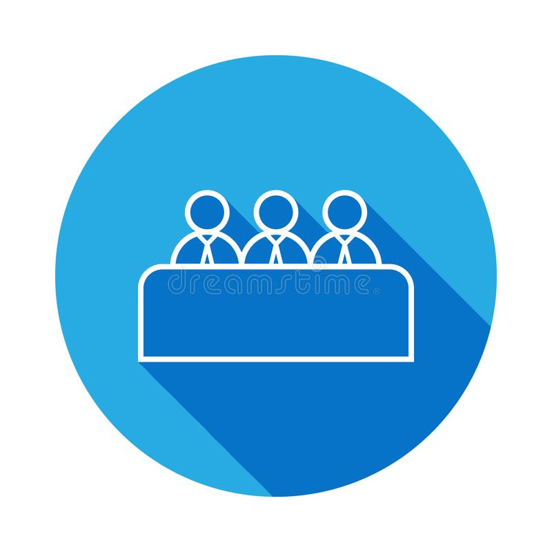 Job interview line icon with long shadow. Element of head hunting for mobile concept and web apps. Signs and symbols can be used. For web, logo, mobile app, UI royalty free illustration