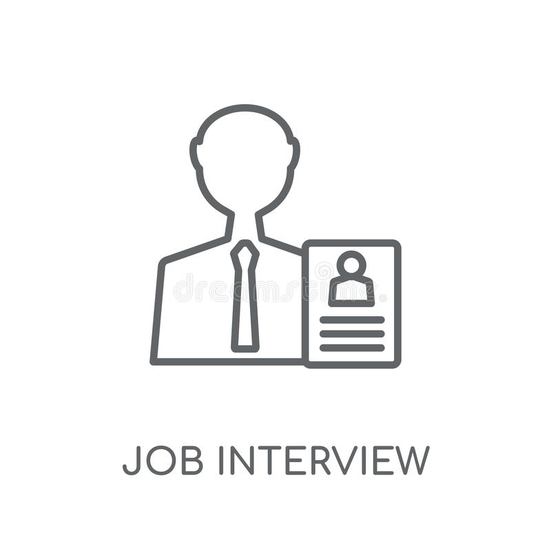 Job interview linear icon. Modern outline job interview logo con. Cept on white background from General collection. Suitable for use on web apps, mobile apps and vector illustration