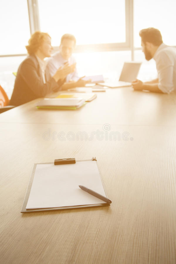Job interview in office stock photos