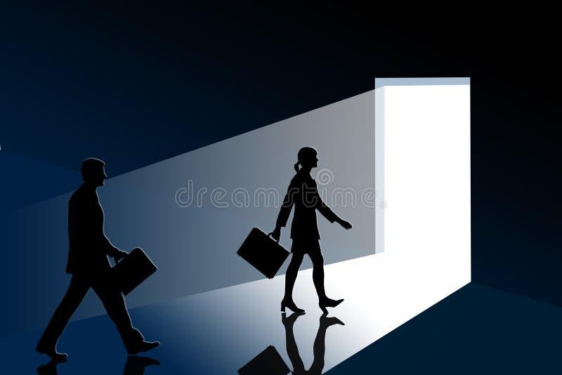 Job interview vector illustration