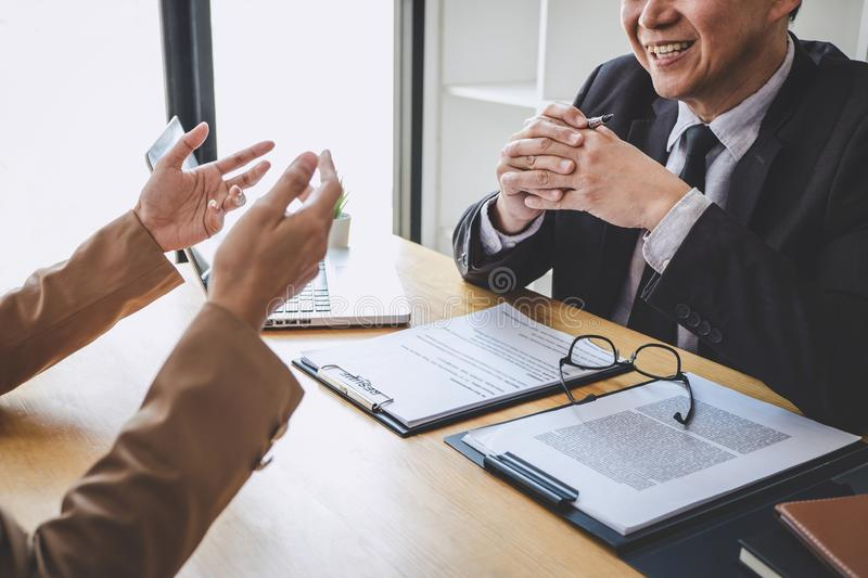 Job interview, Senior selection committee manager asking questions to applicant about work history, colloquy dream,  Skill,. Expertise, experience and stock photos