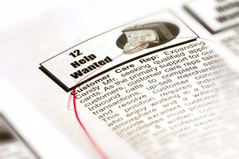 Job-Jagd lizenzfreies stockbild