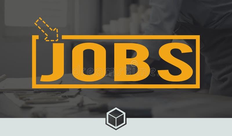 Job-Karriere-Besetzungs-Beschäftigungs-Anwendungs-Konzept lizenzfreie stockfotografie