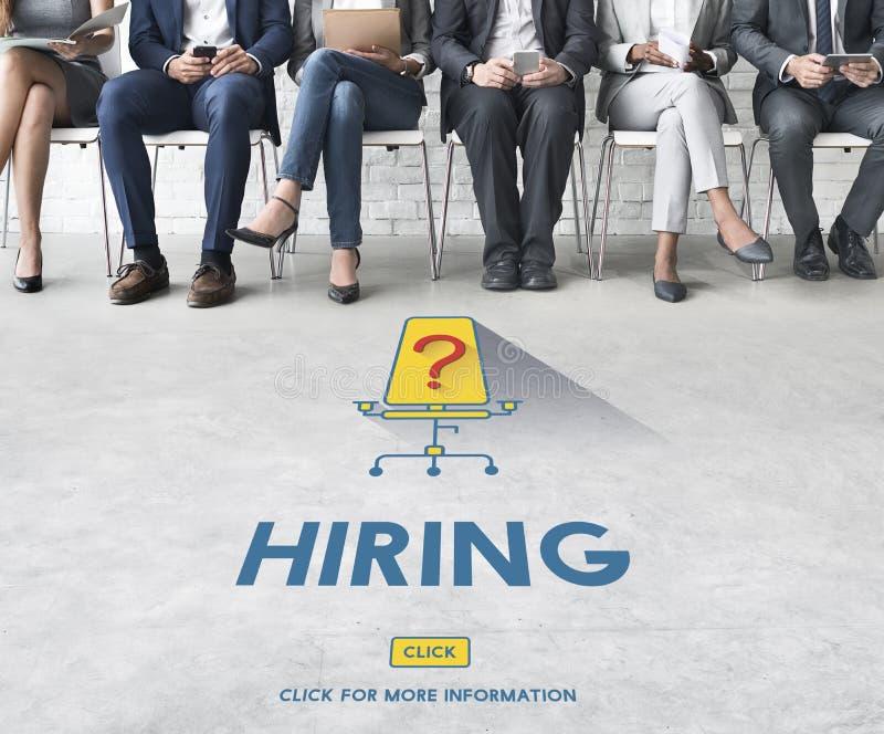 Job-Karriere-Einstellungsbeschäftigungs-Einstellungskonzept lizenzfreie stockbilder