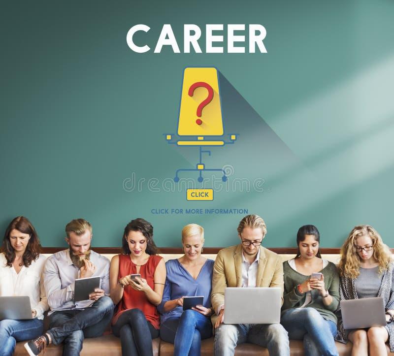 Job-Karriere-Einstellungsbeschäftigungs-Einstellungskonzept stockbilder