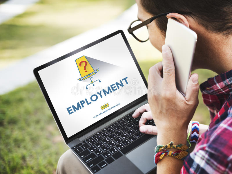 Job-Karriere-Einstellungsbeschäftigungs-Einstellungskonzept lizenzfreie stockfotos