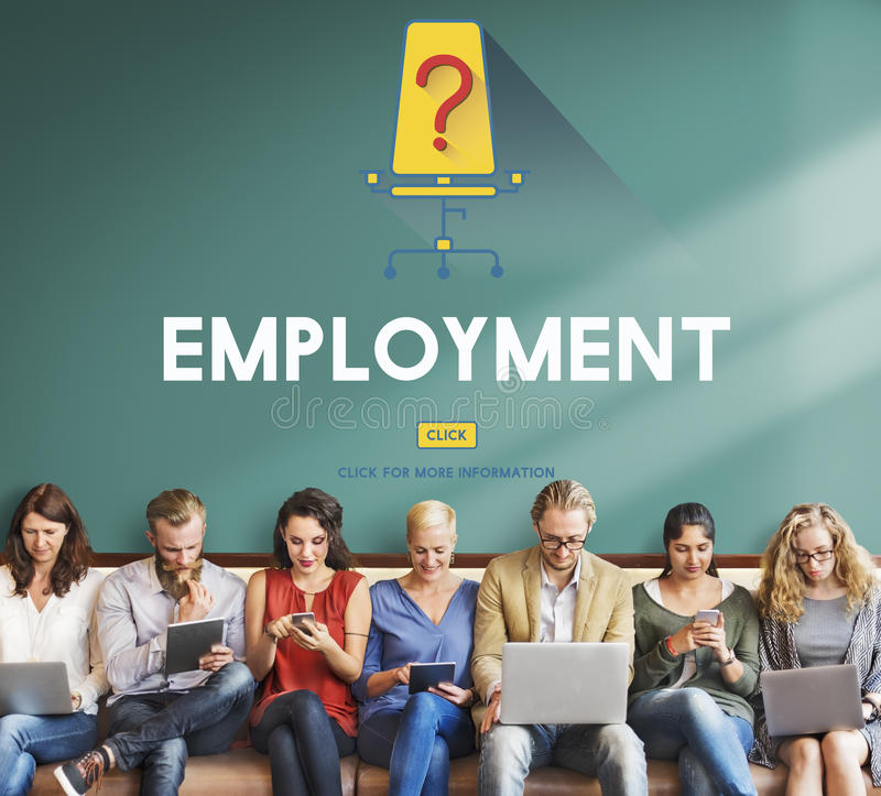 Job-Karriere-Einstellungsbeschäftigungs-Einstellungskonzept stockbild