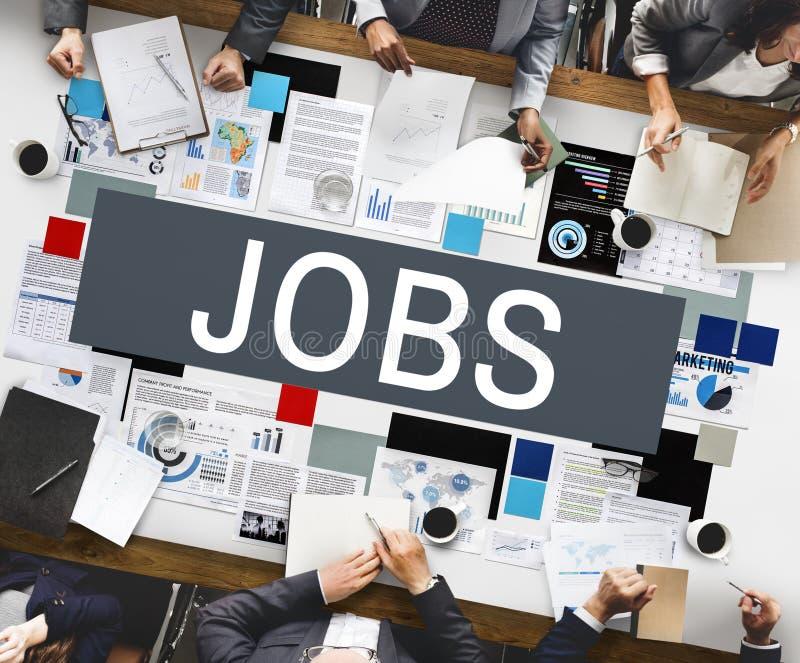 Job-Karrieren, die Einstellungspersonalwesen-Konzept einsetzen lizenzfreie stockbilder