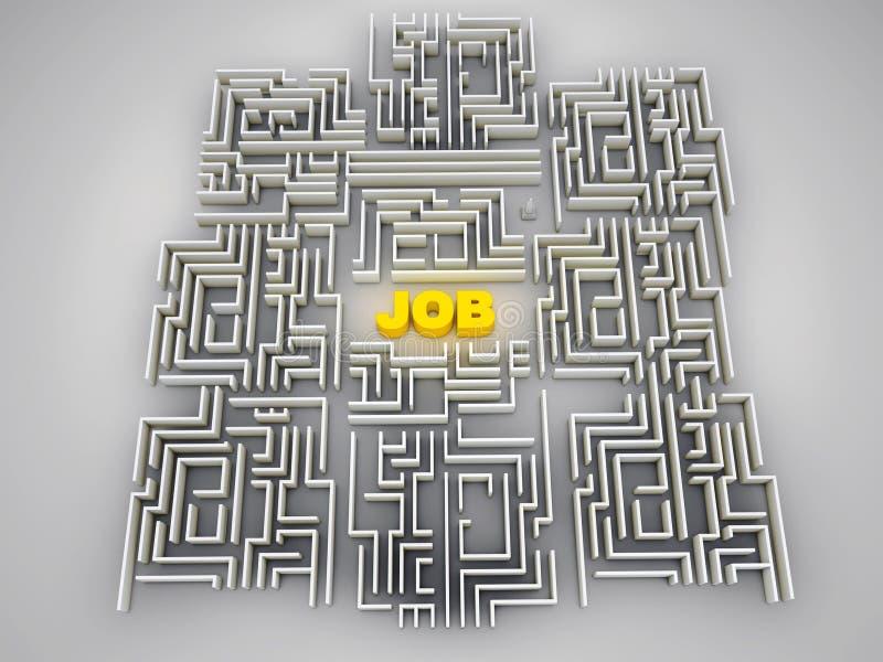 Job labyrinth. Made in 3d vector illustration