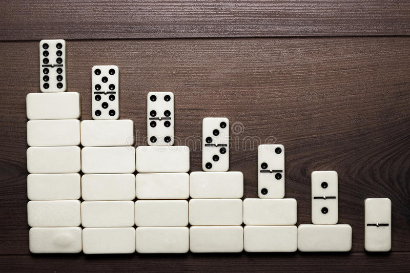 Download Job Ladder Concept Domino Pieces Forming Stair Stock Image - Image: 30195185