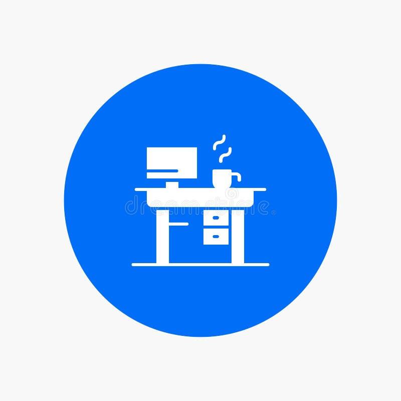 Job, Laptop, Office, Working vector illustration