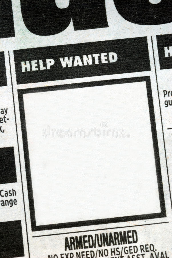 Download Job Listing With The Center Posting Stock Image - Image: 13679685
